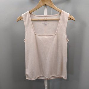 Maurices Blush Pink Waffle Knit Tied Waist Tank, S